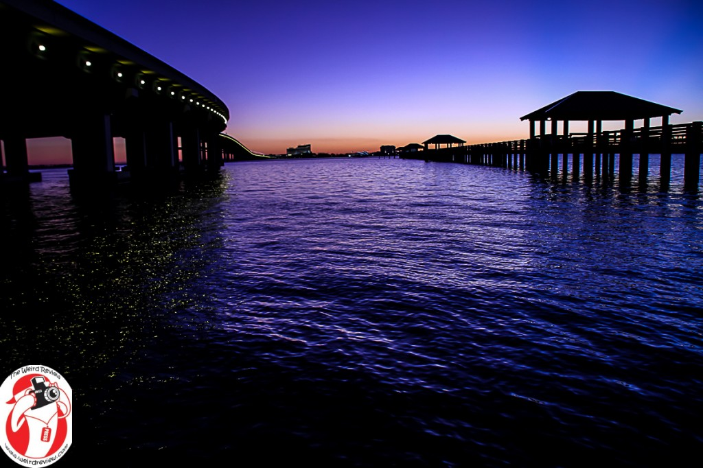 The Biloxi Bay Bridge in the evening light