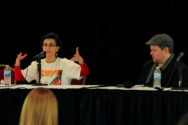 Tiffany Grant Adapting Scripts Panel at Kitsune Kon 2011
