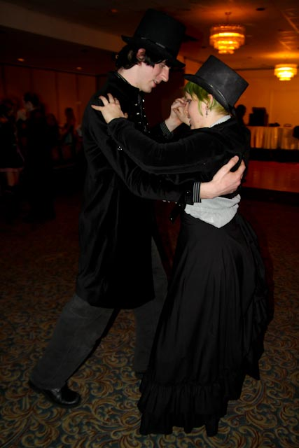A lovely, Victorian style couple at the ball