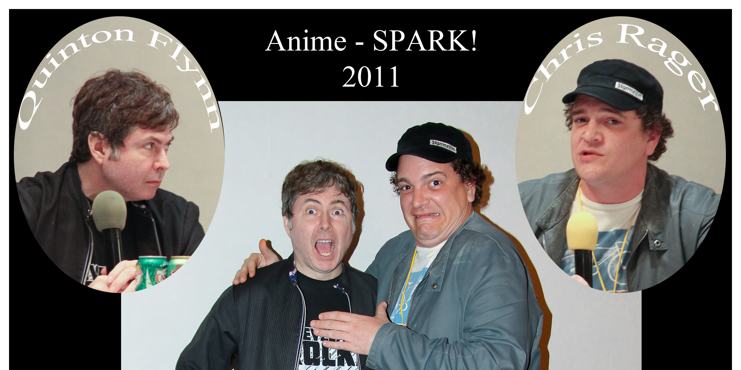 Quinton Flynn and Chris Rager at Anime - SPARK!