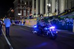 Police Motorcycle at the Krewe of Druids Parade