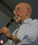 An absolute must-see set every year at the Jazzfest is Pete Fountain's performance. At 81 years old this pioneer of the modern Dixiland Jazz scene in New Orleans plays like no other. - Photo by Captain Brian Epstein