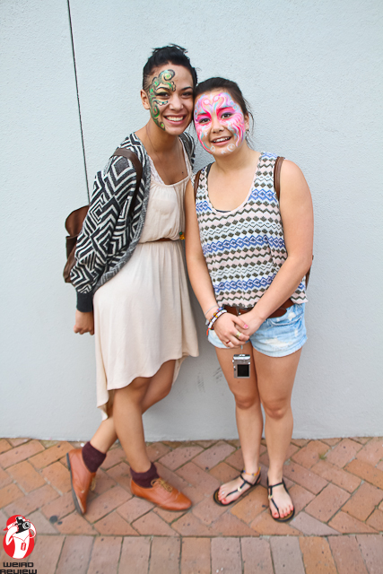 Celebrants at the show in New Orleans festive face paint