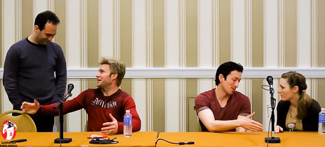 Center left Vic Mignonga, center right Todd Haberkorn at Katsu Con 2011