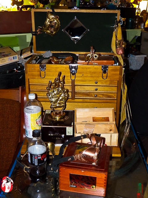 Steampunk treasures are on display from end to end