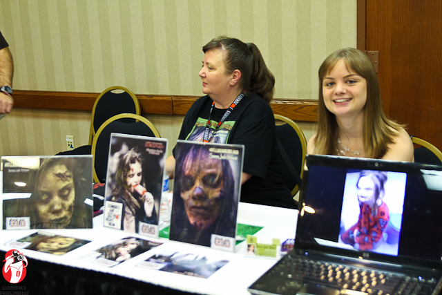 Savana sweetly smiling at Fright Night Film Festival and Fandom Fest!