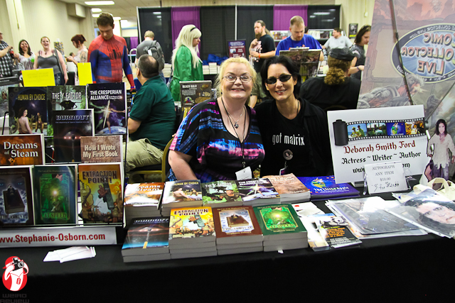 Authors Stephanie Osbourn and Deborah Smith Ford at the Fright Night Film Festifal and Fandom Fest
