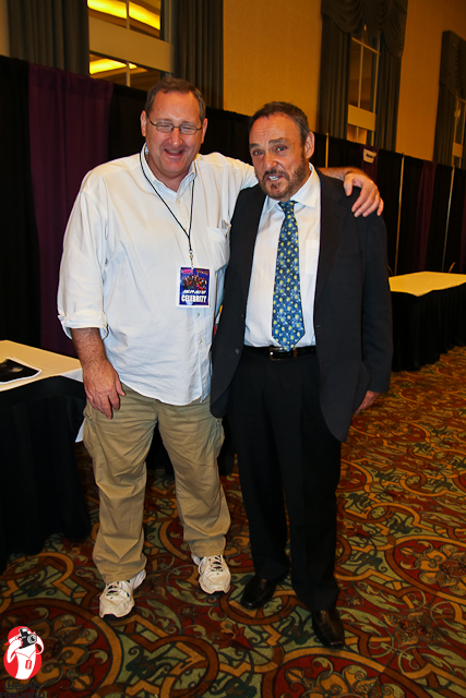 Jeff Burr and John Rhys-Davies at the Fright Night Film Festival and Fandom Expo