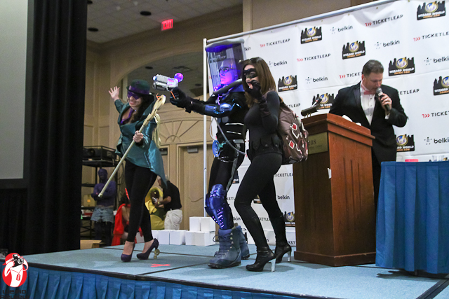 The cosplayers were aglow with the excitement of competition!