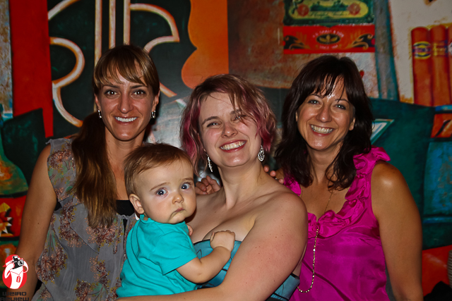 Laura E. Tommervik, Idris and Erin Evans, and Shelly Mazzanoble