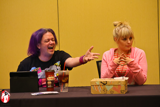 Greg Ayres and Tia Ballard in their It Gets Better panel