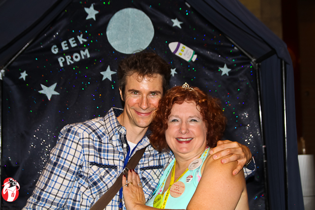 Having a ball at the Geek Prom with Mark Stolaroff