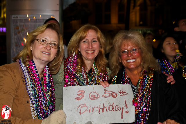 Lovely ladies celebrating their birthday and waiting for King Bacchus