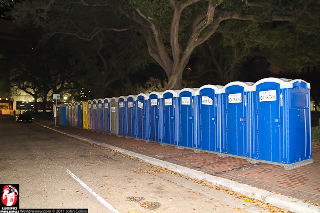 A post Superbowl welcome back to old friends, the porta-potty ban is lifted!