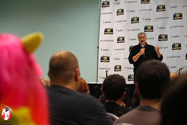 "John De Lancie speaking on ""My Little Pony"" at the Wizard World Comic Convention in Ohio"