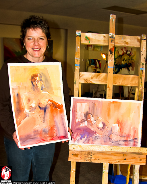 Artist Lisa Flahive at the Artist Table Live Model event