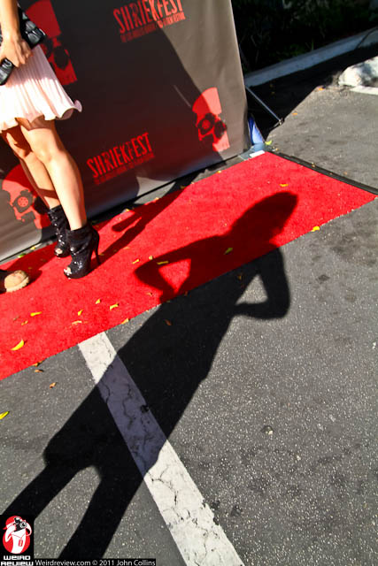 The red carpet at Shriekfest