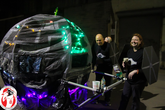 The Death Bar and Tie Fighters at the Chewbacchus Parade