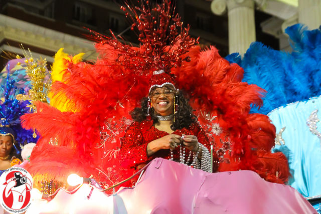 One of the lovely ladies in the Oshun Parade in New Orleans