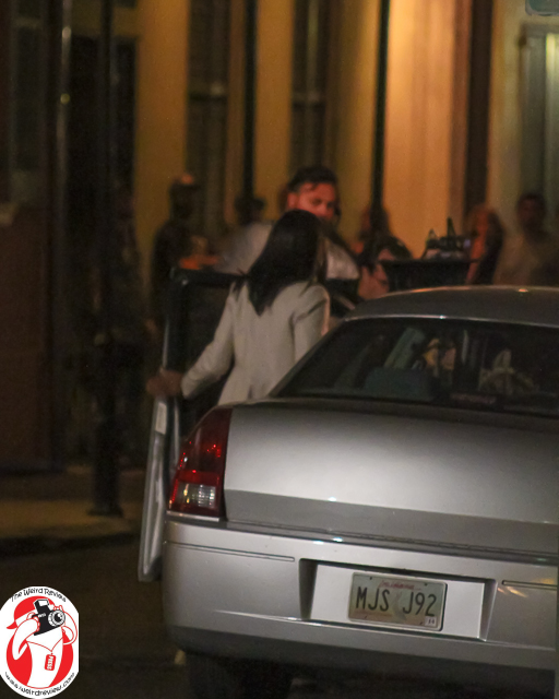 "Ms Kelsey Scott Entering the car on the ""NCIS: New Orleans"" set"