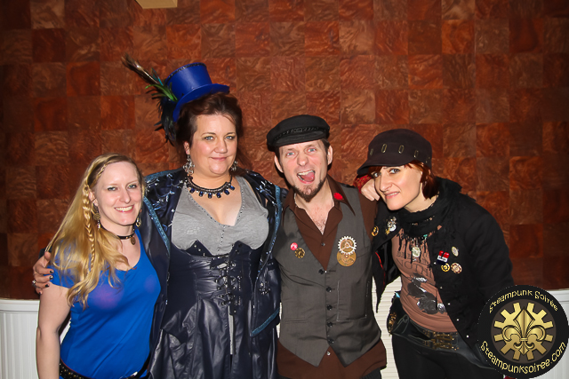 Frenchy and the punk with Corena Gibson and Lesley Scott at HRM Steampunk Symposium