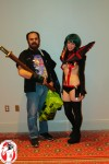 Youmacon Chairman Morgan Kollin with artist/cosplayer Erica Willey