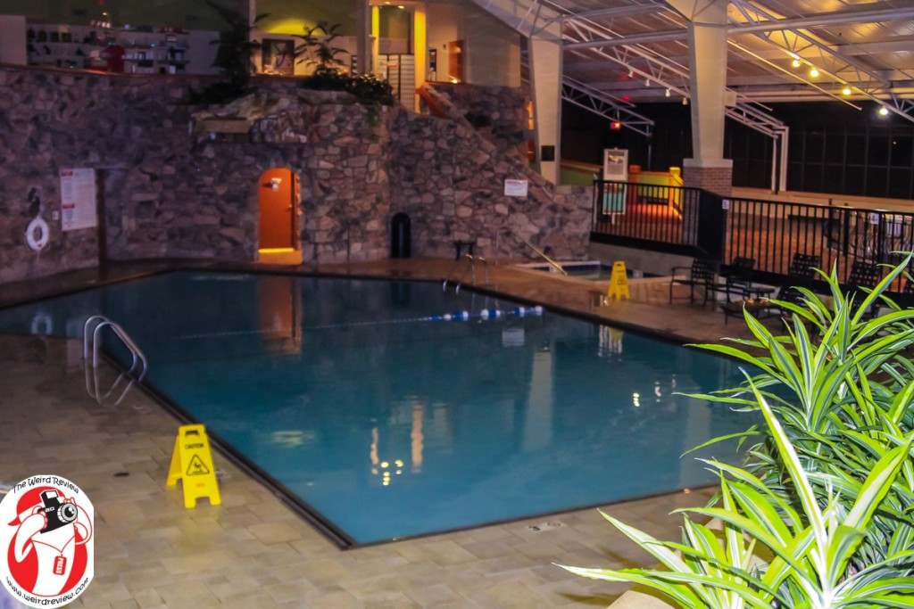 The indoor pool and whirlpool