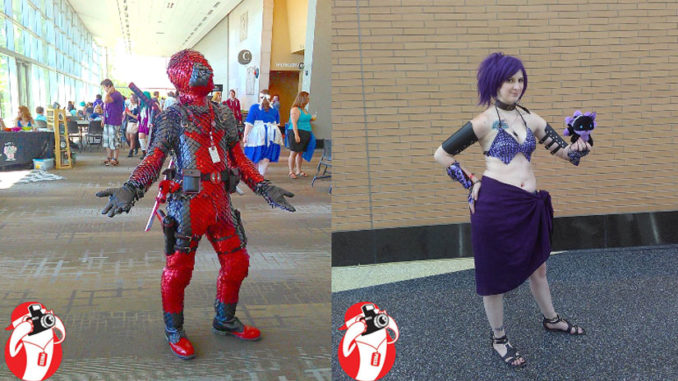 Hallway Cosplayers ScalePool and the mermaid Ruheil at the DeVos Hall in Grand Rapids, Michigan