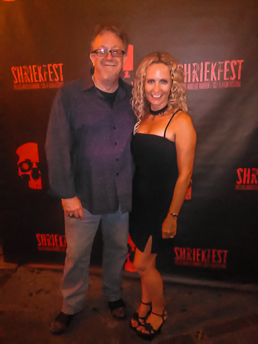 Neil Weakley with Denise Gossett at Shriekfest 2016