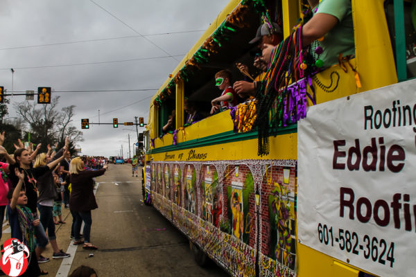 Mardi Gras in Hattiesburg, MS surrounds the U of Southern Mississippi's campus with celebration!