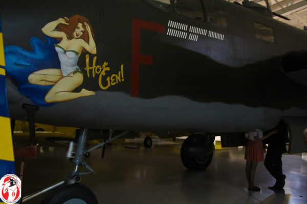 A hot topic discussed in the bomb bay of the Hot Gen B-25 Mitchell Bomber