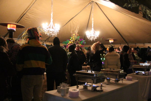The food tent at the Biloxi Twelfth Night celebration