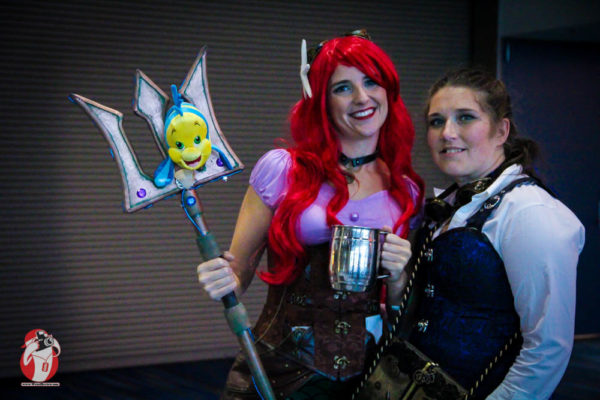 Rebecca Giddens and her cosplayer friend Jenamie