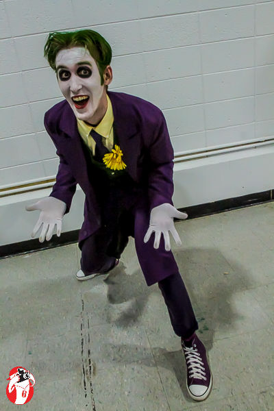 David Quay took second in his Joker Cosplay