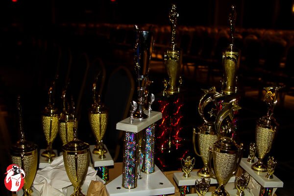 The smaller trophies being carted in for the Masquerade